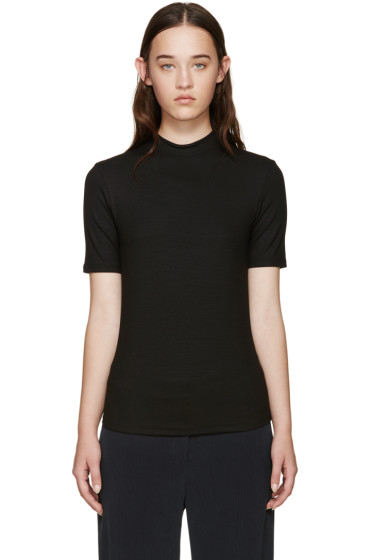 Nomia - Black Ribbed Jersey T-Shirt