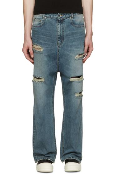 D by D - Blue Wide-Leg Sarouel Jeans