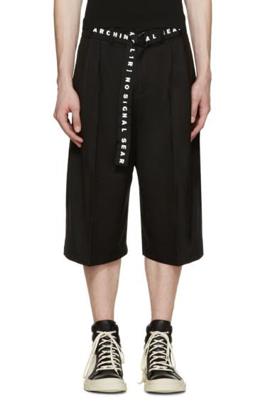 D by D - Black Strap Belt Shorts