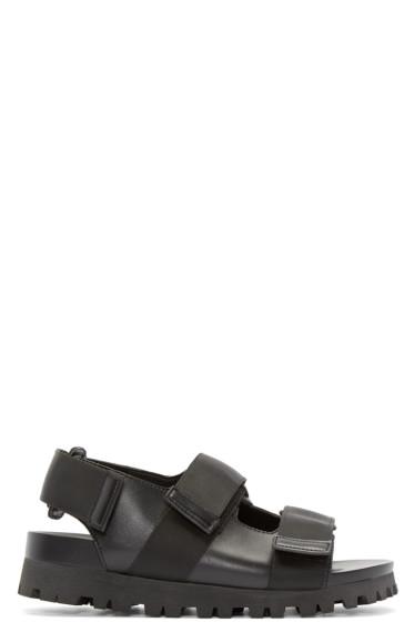 D by D - Black Grosgrain Strap Sandals