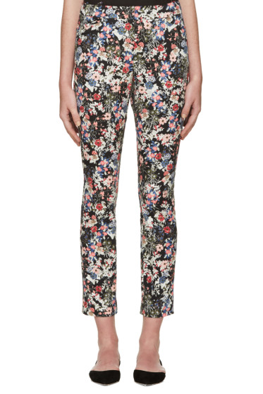 Erdem - Multicolor Gloria Garden Sidney Trousers