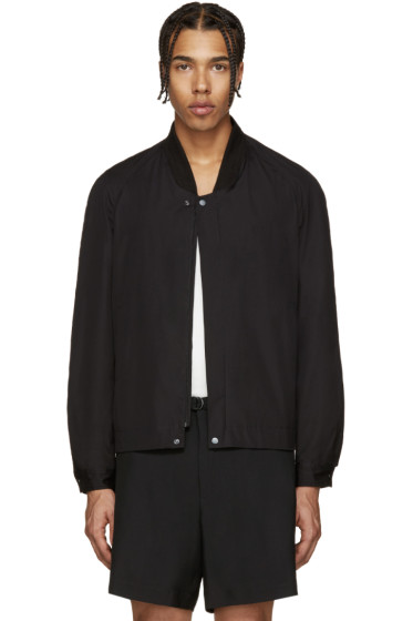 Lemaire - Black Ribbed Collar Jacket