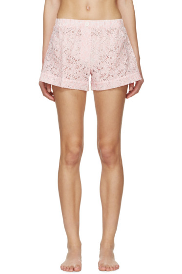 Raphaëlla Riboud - Pink Lace Vasco Pyjama Shorts