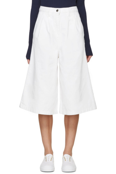 Edit - White Denim Culottes