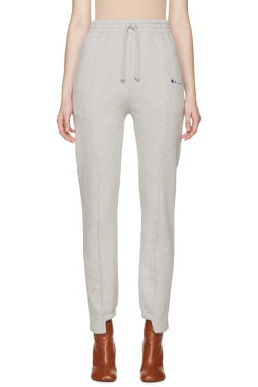 Vetements - Grey Logo Lounge Pants