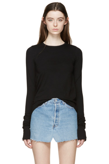 Vetements - Black Long Sleeve T-Shirt