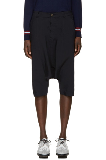 Comme des Garçons Girl - Navy Cropped Sarouel Trousers