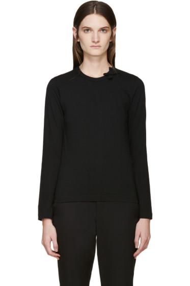 Comme des Garçons Girl - Black Bow Collar T-Shirt