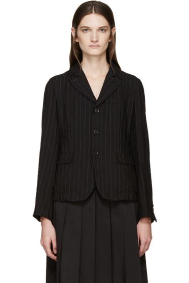 Comme des Garçons Comme des Garçons - Black Pinstripe Wool Blazer