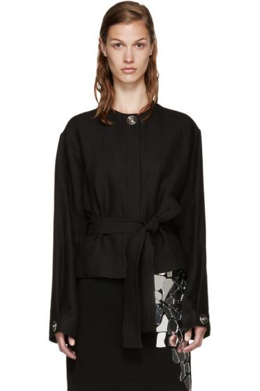 Loewe - Black Linen Snaps Jacket