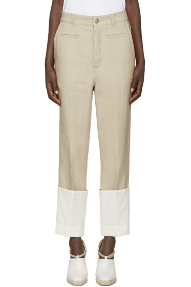 Loewe - Beige Linen Fisherman Trousers