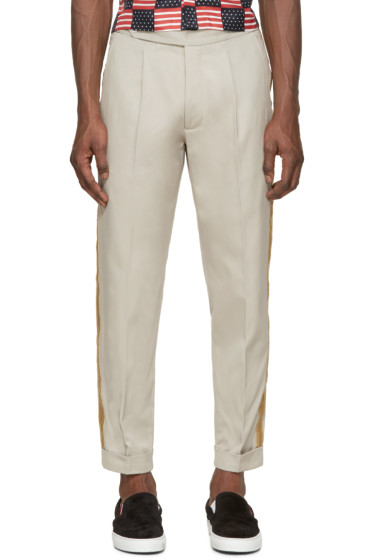 Palm Angels - Khaki Uniform Trimming Trousers