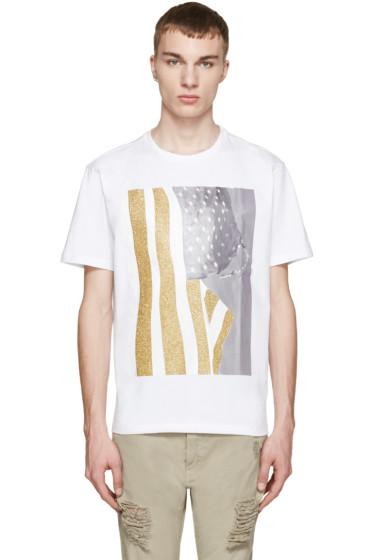 Palm Angels - White Flag T-Shirt
