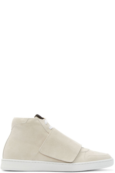 Palm Angels - Beige Basket Mid-Top Sneakers