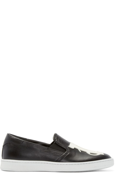 Palm Angels - Black Logo Slip-On Sneakers
