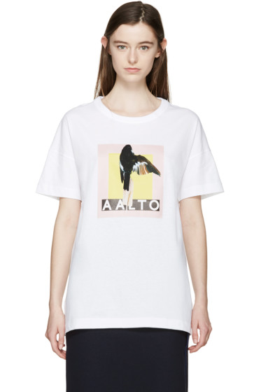 Aalto - White Oversized Logo T-Shirt