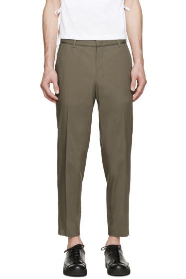 Wooyoungmi - Khaki Zippered Trousers