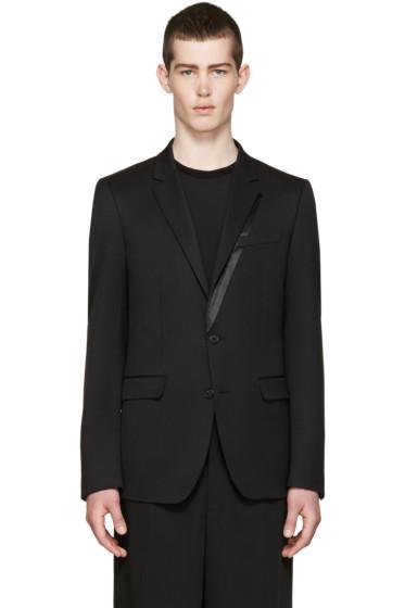 Wooyoungmi - Black Wool Tuxedo Blazer