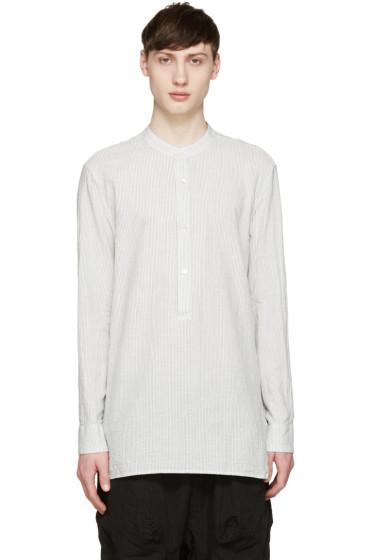 Attachment - White & Grey Striped Shirt