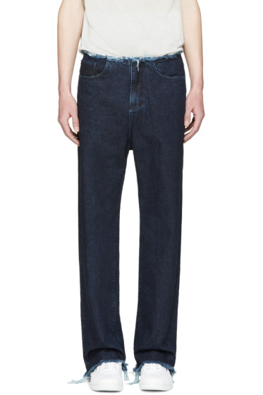 Marques Almeida - Indigo Wide-Leg Jeans