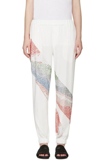 Baja East - Ivory & Multicolor Embellished Trousers