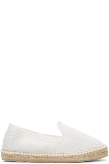 Manebí - White Lace Paris Espadrilles