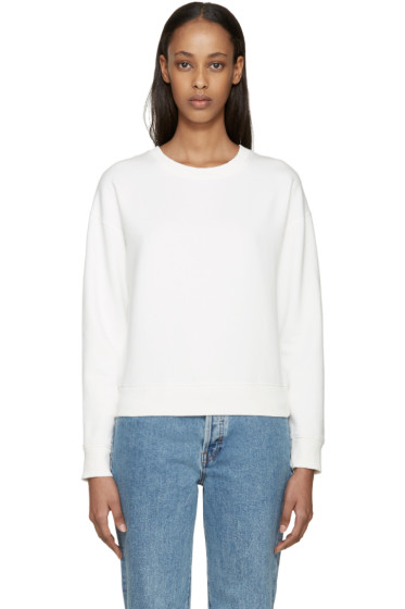 Earnest Sewn - White Abby Sweatshirt