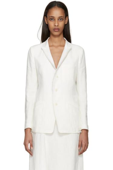 Y's - Off-White Linen Blazer