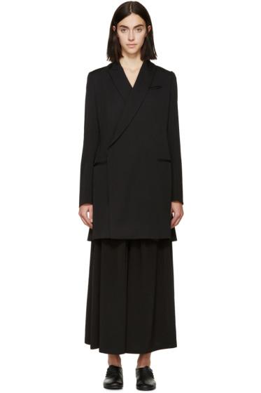 Y's - Black Wool Gabardine Blazer