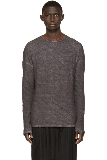 Isabel Benenato - Grey Creased Pullover