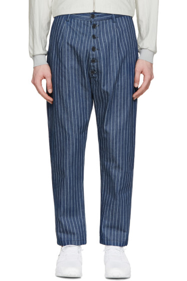 Sunnei - Indigo Denim Pinstriped Trousers