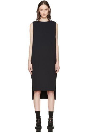Enfold - Navy Double Cloth Asymmetric Long Dress