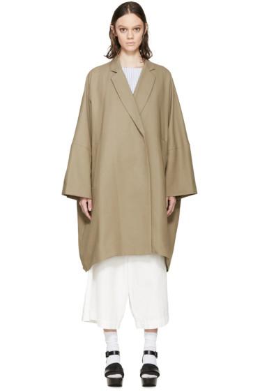 Enfold - Khaki Wide Trench Coat