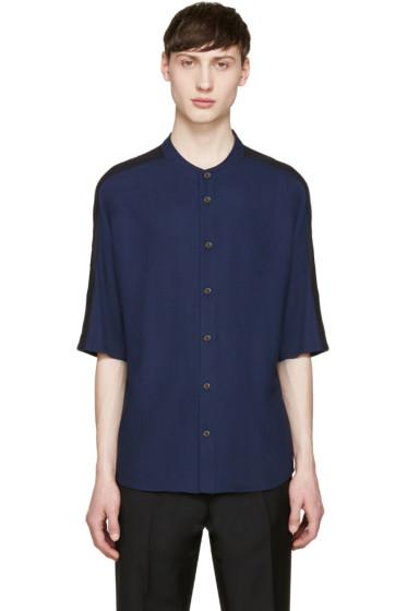 Stephan Schneider - Navy Button T-Shirt