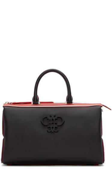 Emilio Pucci - Black & Red Leather Logo Bag