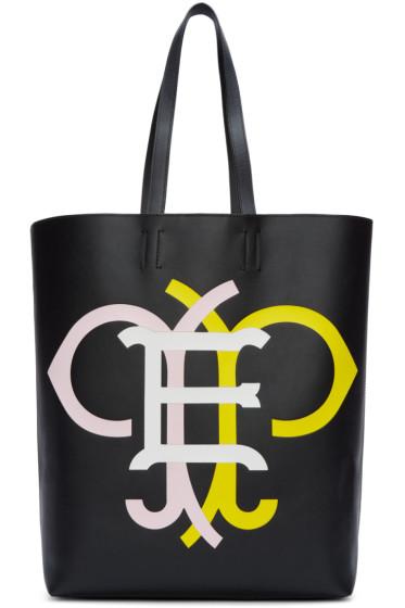 Emilio Pucci - Black & Multicolor Leather Logo Tote