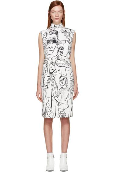 Emilio Pucci - Ivory & Black Vintage Print Dress