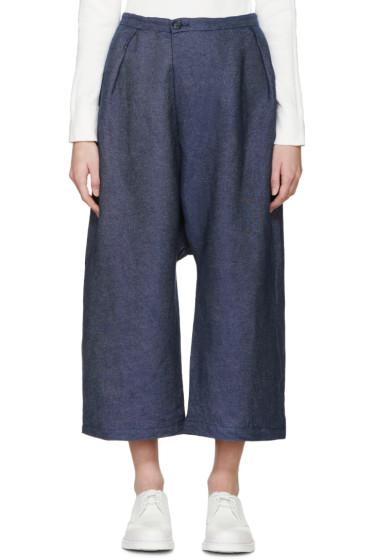 Blue Blue Japan - Blue Chambray Wide-Leg Trousers
