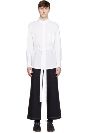 Wales Bonner - White Linen Ishmael Shirt
