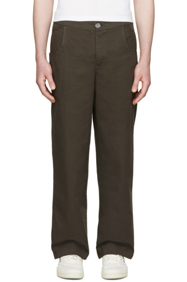 Telfar - Taupe Twill Trousers