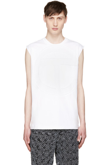Telfar - White Cut Logo T-Shirt