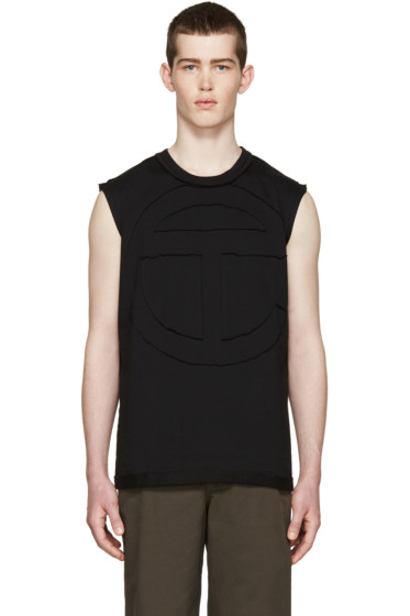Telfar - Black Cut Logo T-Shirt