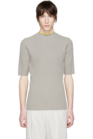 CMMN SWDN - Grey Ribbed Shea Sweater