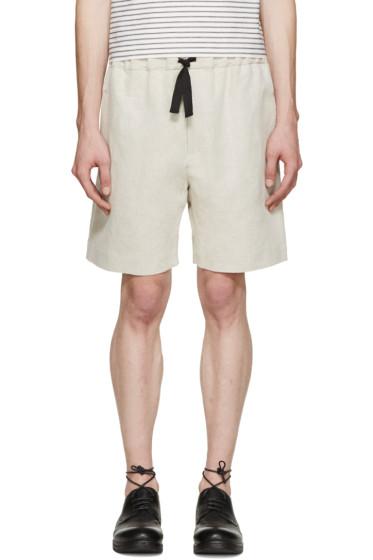 Phoebe English - Beige Linen Shorts