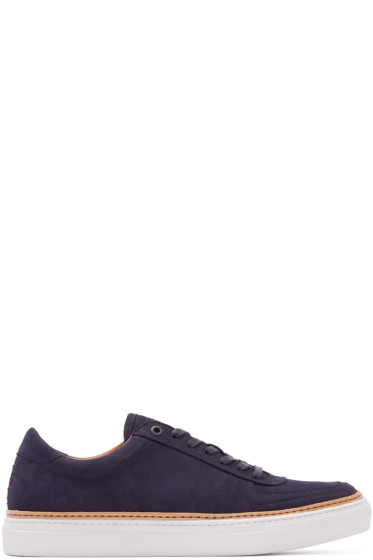 No.288 - Navy Suede Grand Low-Top Sneakers