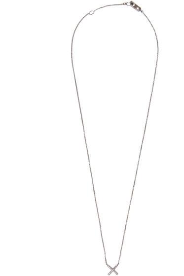 Eva Fehren - Blackened Gold Diamond X Pendant