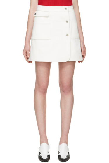 Courrèges - White Denim Miniskirt