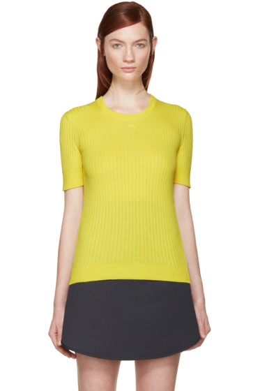 Courrèges - Yellow Rib Knit Sweater