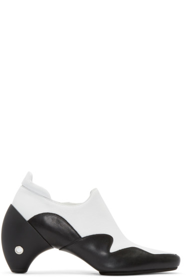 Courrèges - White & Black Leather Gogo Boots