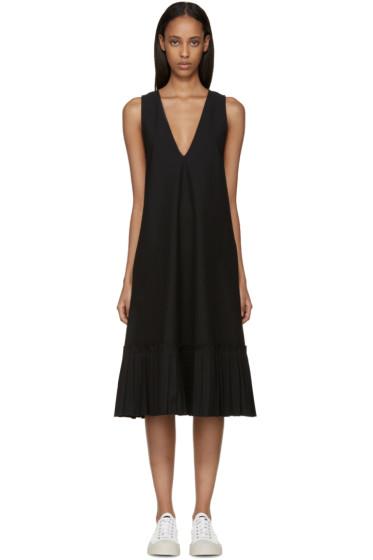 Sara Lanzi - Black Piqué Sleeveless Dress
